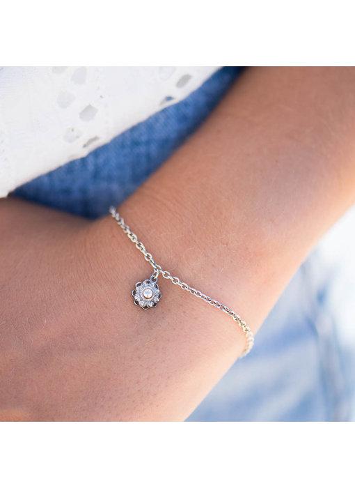 Zeeuws Echt zilveren armband met hangend Zeeuwse knopje