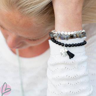 Biba armband zwart met kwast
