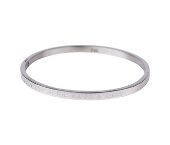 KalliKalli zilveren bangle armband 'Love you to the moon and back''