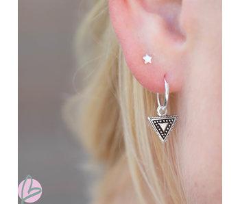 KARMA Hoops Symbols triangle bewerkt silver 925