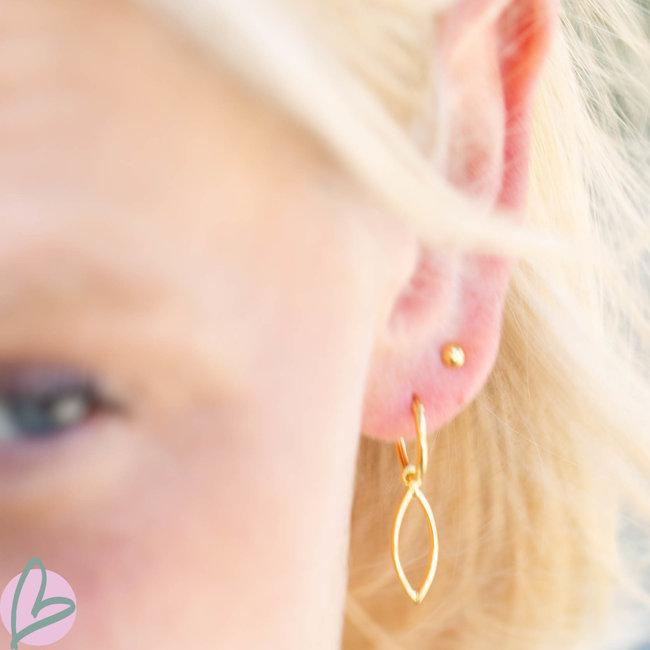 KARMA Hoops Symbols ovaal Goldplated
