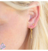 KARMA Hoops Symbols Dots Chain Tube Goldplated