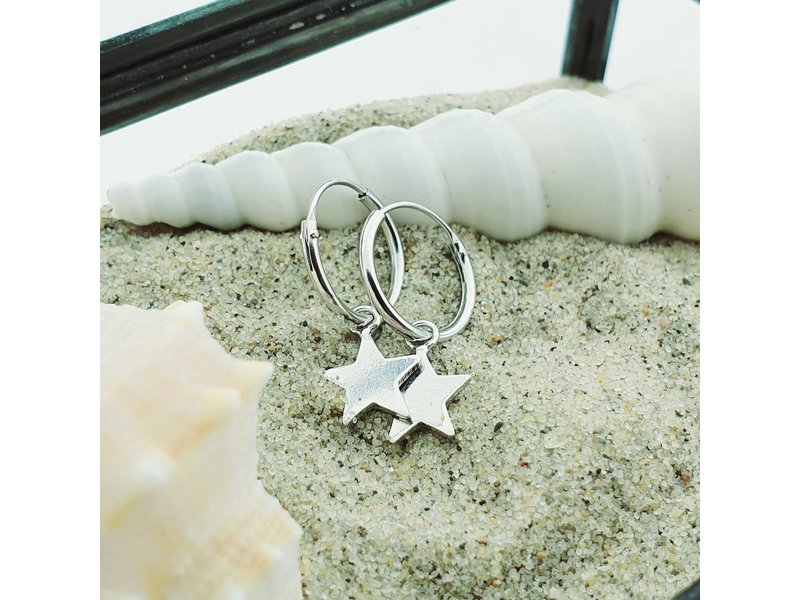 KARMA Hoops Symbols Stars Silver