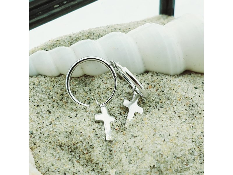 KARMA Hoops Symbols Faith (kruisje) Silver