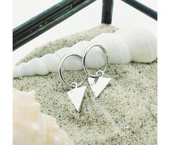 KARMA Hoops Symbols Triangle Silver