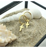 KARMA Hoops Symbols Faith (kruisje) Goldplated