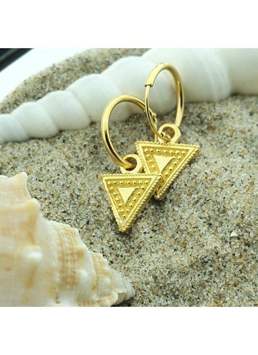 KARMA Hoops Symbols Triangle Gold  bewerkt