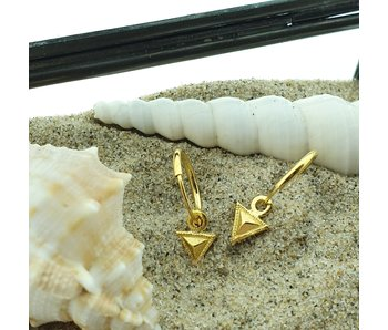 KARMA Hoops Symbols Tiny Triangle Goldplated