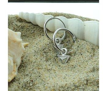 KARMA Hoops Symbols Tiny Triangle Silver 925