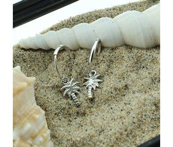 KARMA Hoops Symbols Palmtree Silver
