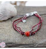 Go Dutch Label Rode armband met steen