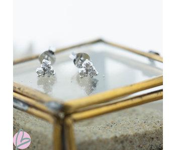KARMA Symbols  Silver 925  triple crystals