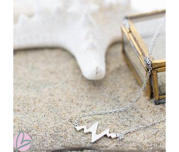 ZAG  Bijoux zilveren ketting met heartbeat