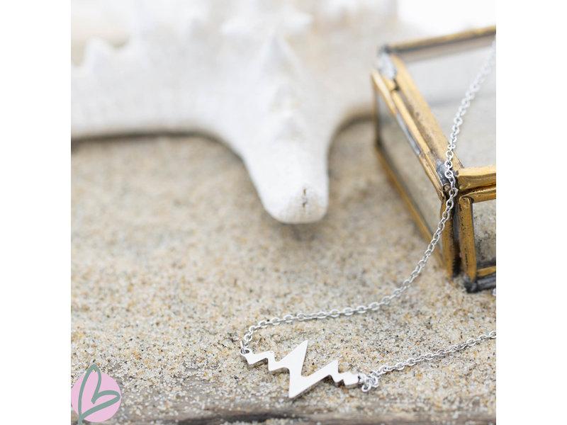 ZAG  Bijoux zilveren kettingzilver hartslag