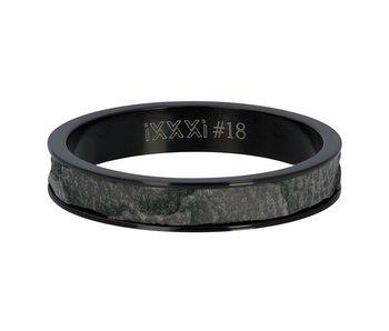 IXXXI aanschuifring 4mm zwart elephant
