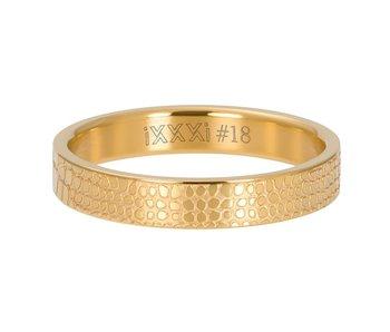 IXXXI aanschuifring 4mm giraffe goud