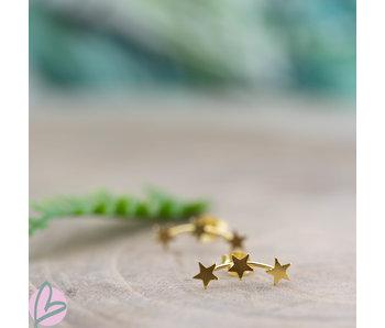 KARMA Symbols  Silver 925  XL triple stars Gold