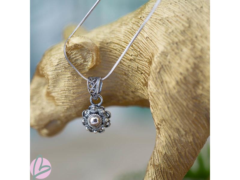 Zeeuws Echt zilveren Zeeuwse knop ketting klein