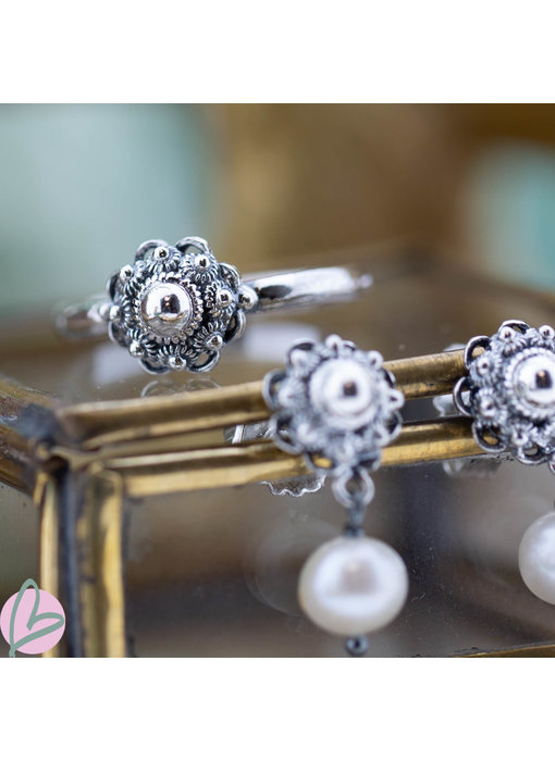 Zeeuws Zilveren Zeeuwse knop ring 10mm