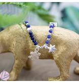 Biba Armband snowflake blauw