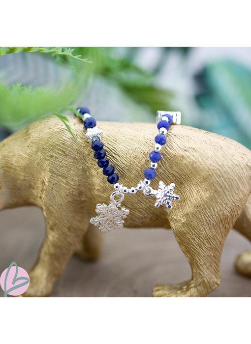 Biba Armbanden snowflake blauw