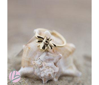 ZAG  Bijoux ring goud met bij