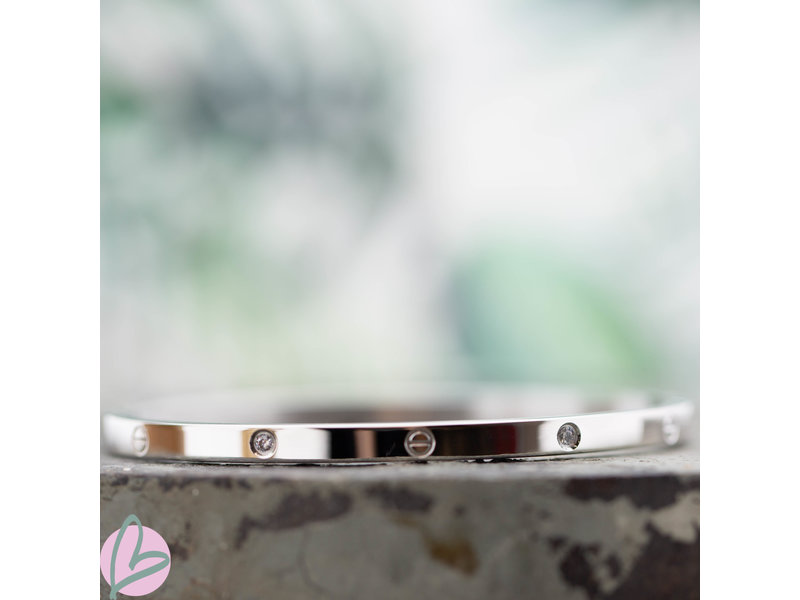 KalliKalli zilveren bangle armband diamonds cartier