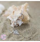 KARMA Hoops Symbols triangle driehoek bewerkt silver 925