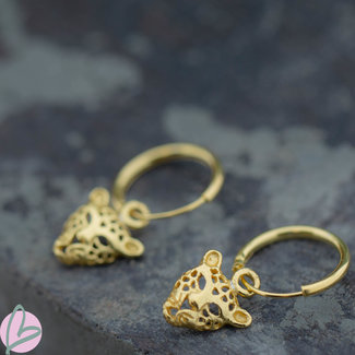 KARMA Hoops Symbols panter kop goud