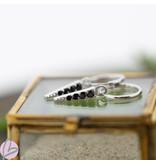 KARMA Hoops Symbols Black Zirconia Cone Silver