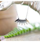 ZAG  Bijoux ZAG Bijoux ketting zilver strakke veren