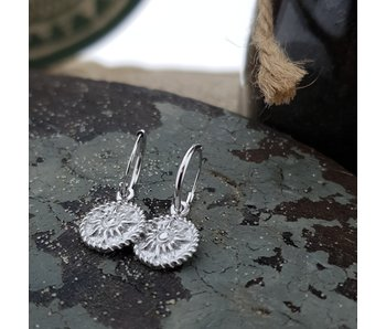 KARMA Hoops Symbols Sun Coin - Silver 925