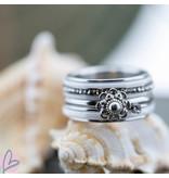 IXXXI Complete ring Zeeuwse knop wit