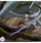 KARMA Oorringen zilver925 met crystal steentjes rosegoud