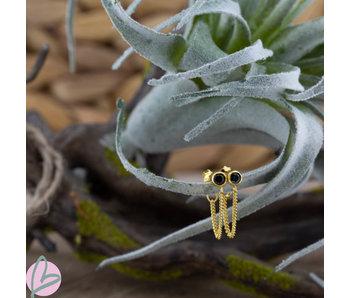 KARMA Chain Black Zirconia Goldplated