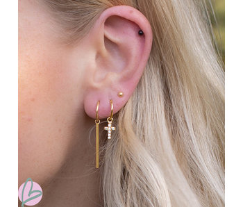 KARMA Hoops Symbols Tube XL Goldplated