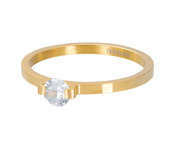IXXXI aanschuifring 2mm mini glamour stone gold