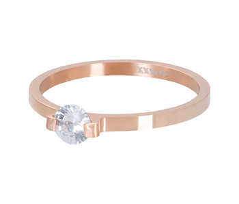 IXXXI aanschuifring 2mm mini glamour stone rosegold