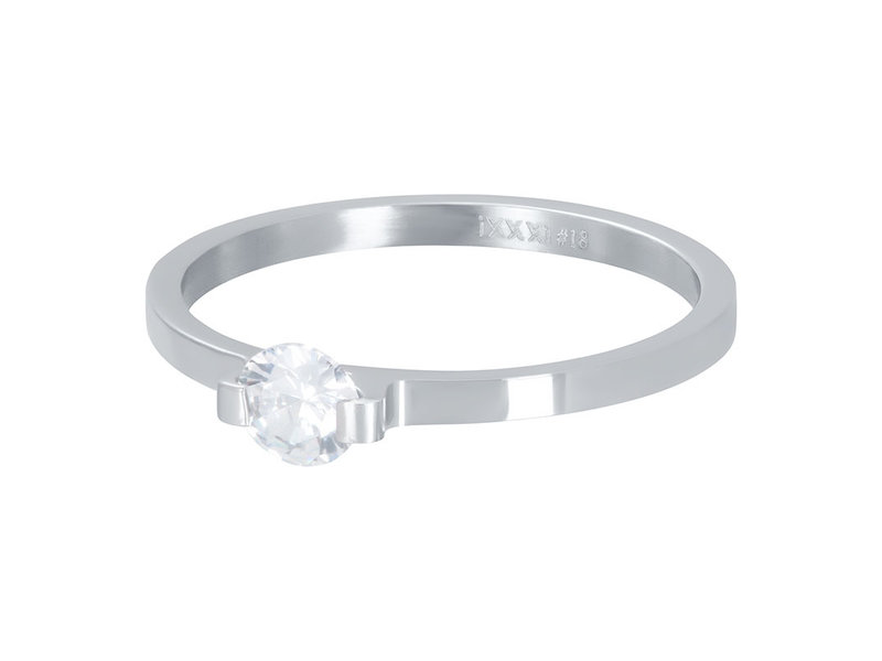 IXXXI aanschuifring 2mm mini glamour stone zilver