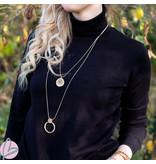 Biba Ketting verstelbaar met goud open circel