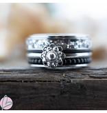 IXXXI Complete ring Zeeuwse knop glitter