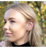 KARMA Karma oorringen triangle gold met zwarte zirconia