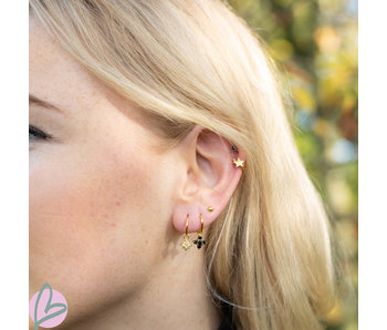 KARMA Hoops Symbols Zirconia Morningstar 2 Goldplated