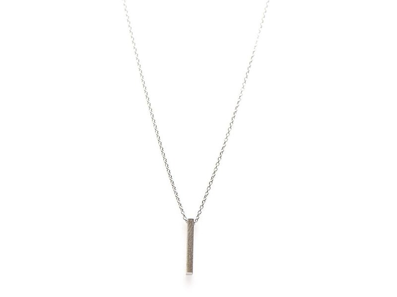 KARMA Necklace Tube Vertical Silver