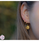 KARMA Hoops Symbols Sun Coin Goldplated