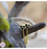 KARMA Chain Triple Black Zirconia Goldplated
