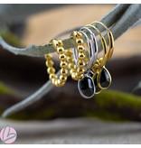 KARMA Hoops Symbols Black Zirconia Drop Goldplated