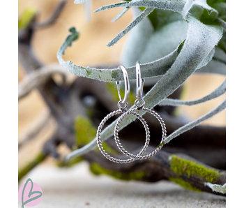 KARMA Hoops Symbols open rondje groot zilver