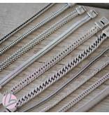 Biba metalen armband zilver breed