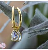 KARMA Hoops Symbols  Zirconia Drop Goldplated
